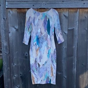 H&M Abstract Floral Body-con Dress